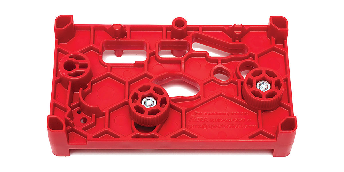 Apex Tactical Specialties Armorer's block For Gunsmiths - Red