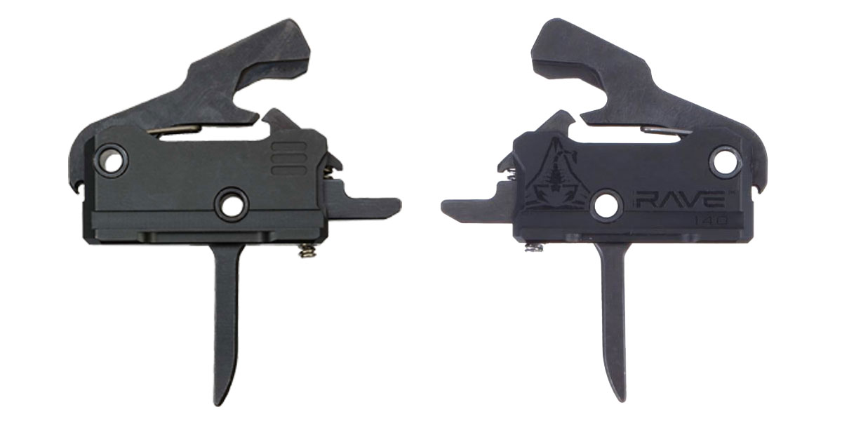 RISE Armament Rave 140 Flat, Super Sporting Trigger with Anti-Walk Pins