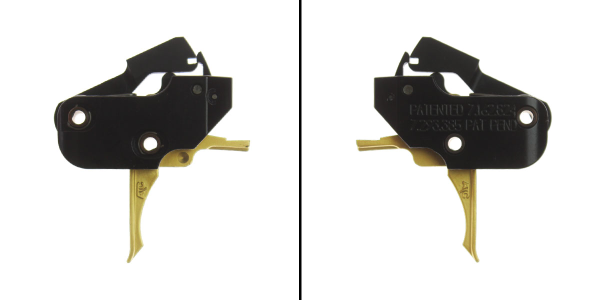 American Trigger Corp. AR Gold Fixed Trigger (Flat) - AR-9