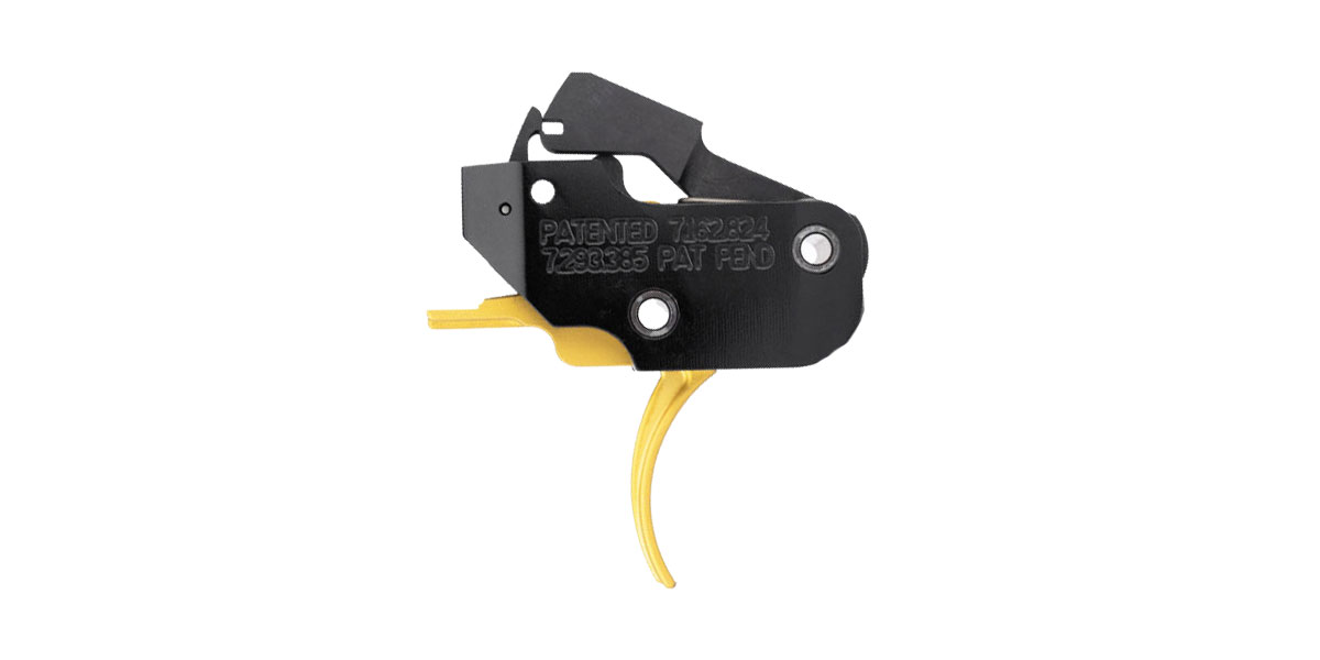 American Trigger Corp. AR Gold Fixed Trigger (Curved) - AR-9