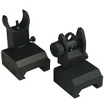 Omega Manufacturing Premium Flip-Up Sight Set Fits all Picatinny Rails and Flat Tops