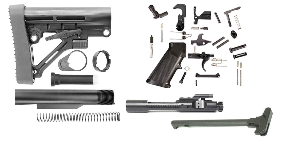 Lakota Ops Omega Stock AR-15 Finish Your Rifle Kit 5.56/.223/.300 BLKOUT/.350 Legend