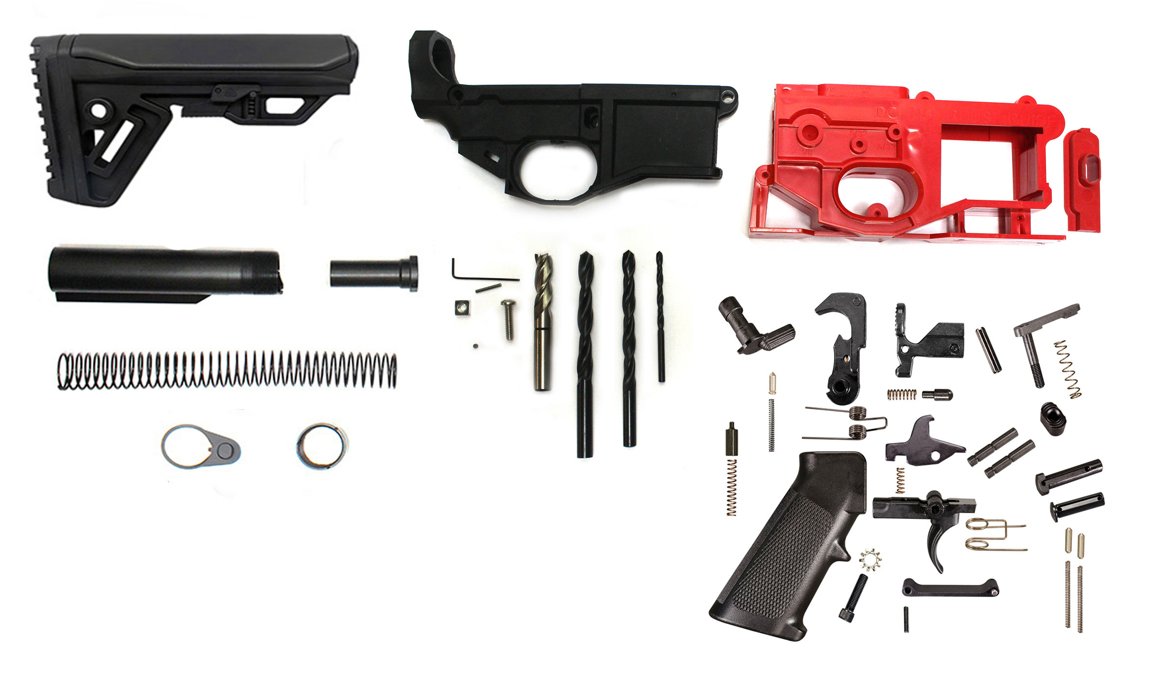 Phoenix Gen 2 Polymer 80% AR-15 Lower Receiver With Jig & Bits + Lower  Parts Kit & Cobra Stock!