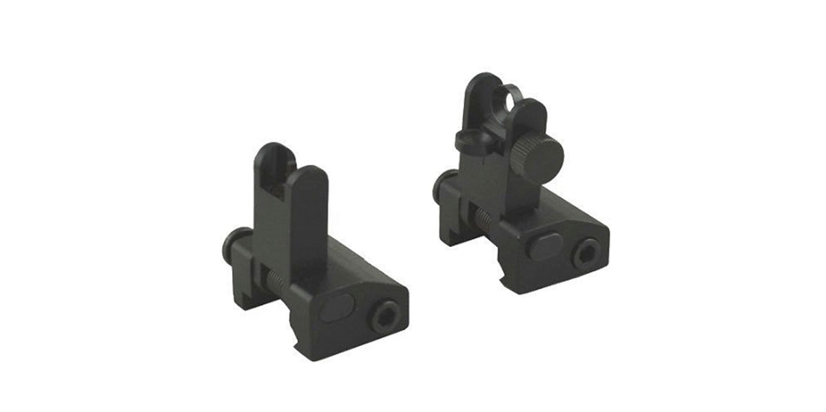 Ultimate Defense Ind. Spring Loaded Flip Up Iron Sights - Full Set