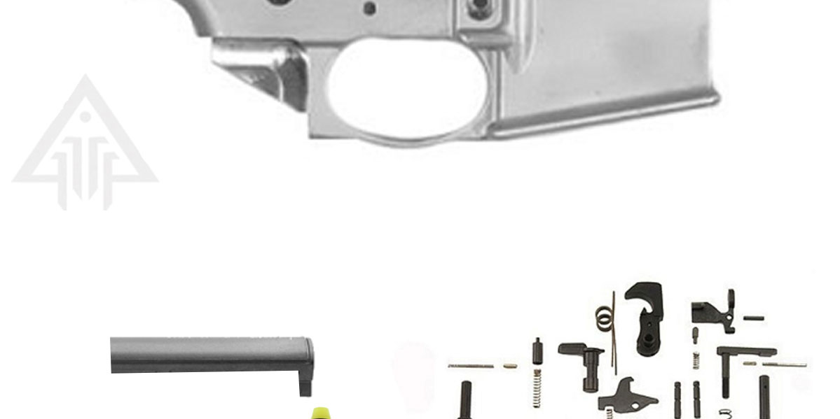 Noreen 80% Forged Lower Receiver, Alpha Stock Kit & Tactical Superiority  Lower Parts Kit Combo **Everything You Need To Build Full 80% Lower**  (Choose