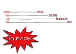 10 PACK - Gas Tubes - PICK YOUR LENGTH