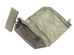Tactical Ammo Brass Shell Catcher for 223 / 5.56 Mesh Bottom Zipper Closure - FDE