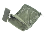 Tactical Ammo Brass Shell Catcher for 223 / 5.56 Mesh Bottom Zipper Closure - OD Green