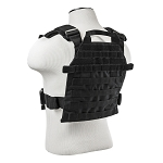 New Vism Fast Attack Plate Carrier Black With Ballistic Level IIIA Soft Armor Protection.  Stops .44 Mag & More  (Amazing Deal !!)