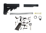 Tactical Superiority Full Lower Parts Kit & Trinity Force L-E Mil-Spec Complete Stock Combo - Complete AR-15 Lower Setup