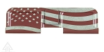 United Defense AR-15 Ejection Port Cover--American Flag U.S. Made - Red