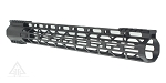 Omega Manufacturing  AR-15 Top Cut Free Float Slim Handguard Mlok 17
