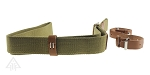 Omega Mfg. Olive One Point Sling  with Brown Belt Straps