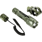 Aim Sports 180 Lumen Flashlight with Pressure Switch and Offset Mount