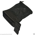 Tactical Ammo Brass Shell Catcher for 223 / 5.56 Mesh Bottom Zipper Closure - Black