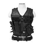 Vism Tactical Vest - Black With Holster Deluxe Version !!!