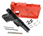 Polymer 80 PF940C 80% Compact Pistol Frame Kit  Black  Fits All Gen 3 Glock 19 & 23  (Newest Gen II Better Aggressive Texture)