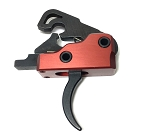 Ar-15 M4 3.0 lb Drop In Ultra Match Trigger System - Crimson Red