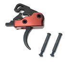 Ar-15 M4 3.0 lb Drop In Ultra Match Trigger System With Anti Walk Pins - Crimson Red