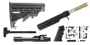 Omega Deals MMC Armory AR-15 LE Stock Finish Your Rifle Build Kit - 5.56/.223/.300/.350