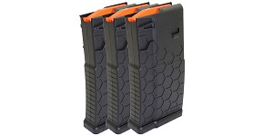 HEXMAG, Magazine, .308 Win/7.62 NATO, 20Rd, Fits DPMS/SR25 - Black Finish - 3 Pack