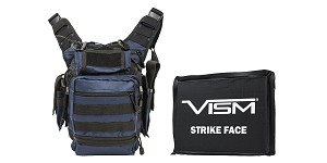 Omega Deals VISM First Responders Utility Bag - Urban Gray + VISM Ballistic Soft Panel - 6