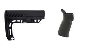 Omega Deals Stock and Pistol Grip Furniture Set: Featuring Lakota Ops + Bravo Company