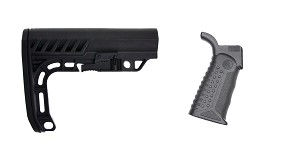 Omega Deals Stock and Pistol Grip Furniture Set: Featuring Lakota Ops + Battle Arms Development