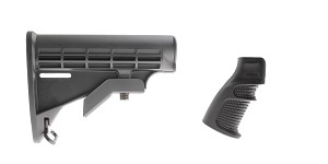 Omega Deals Stock and Pistol Grip Furniture Set: Featuring Lakota Ops + United Defense