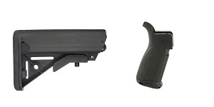 Omega Deals Stock and Pistol Grip Furniture Set: Featuring JE Machine + Bravo Company