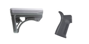 Omega Deals Stock and Pistol Grip Furniture Set: Featuring Leapers + United Defense
