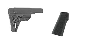 Omega Deals Stock and Pistol Grip Furniture Set: Featuring Leapers + Hogue