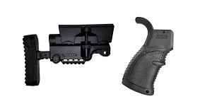 Omega Deals Stock and Pistol Grip Furniture Set: Featuring A*B Arms + FAB Defense