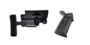 Omega Deals Stock and Pistol Grip Furniture Set: Featuring A*B Arms + Magpul