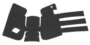 TALON Grips Inc, Granulate, Grip, Black, Adhesive Grip, Fits Glock Gen3 19, 23, 25, 32, 38