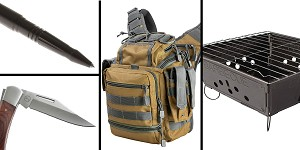 Tactical Gift Box Portable Folding Barbecue Grill + 3