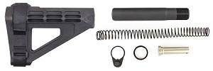 SB Tactical SBM4 AR-15 Pistol Stabilizing Brace & Omega Mfg. Pistol Buffer Tube Kit Combo