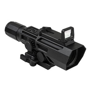 VISM ADO 3-9X42 Scope With Flip Up Red Dot Optic - Black